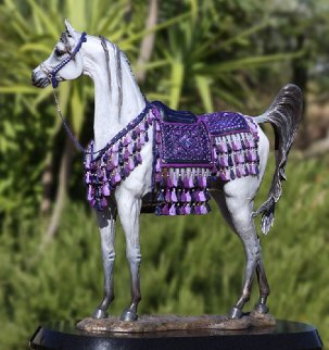 Treasure Arabian Mare Bronze Sculpture AP  2009 18 in Sculpture - J. Anne Butler