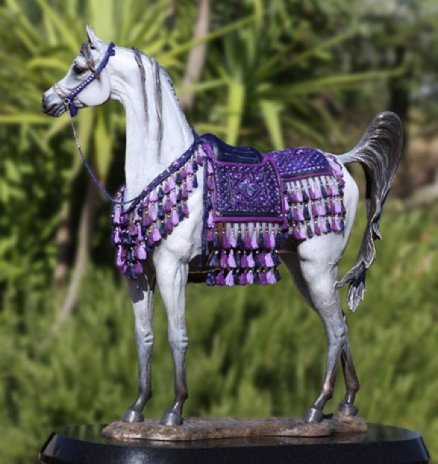Treasure Arabian Mare Bronze Sculpture AP 2009 18 in