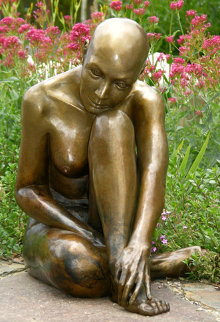 Purity -  Life Size Bronze Sculpture 2014 60 in Sculpture - J. Anne Butler