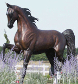 Monumental Life Sized Equine Bronze Sculpture 84 in Sculpture - J. Anne Butler