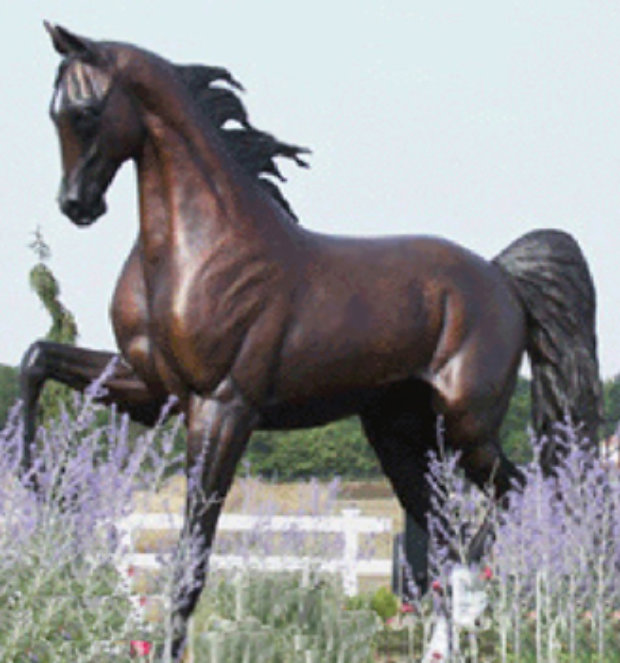 Monumental Life Sized Equine Bronze Sculpture 84 in