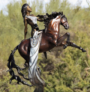 Epona - Celtic Goddess of Horse Bronze Sculpture 2008 24 in Sculpture - J. Anne Butler