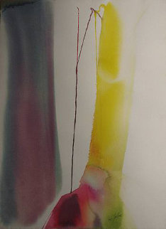 Phenomenon His Domain 1966 38x25 Watercolor - Paul Jenkins