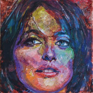 Penelope 2014 20x20 Original Painting - Jerry Blank
