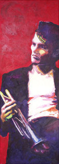 Chet Baker 2009 Original Painting - Jerry Blank