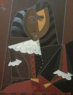 Untitled 1991Portrait  30x27 Original Painting by Jesus Fuertes