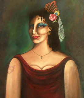 Rosa When She Wuz Happy 1988 38x30 Original Painting - Jett Jackson