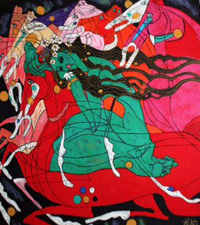 Emerald Lady 1983 Limited Edition Print - Tie-Feng Jiang