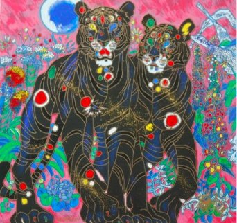 Black Tiger Couple Limited Edition Print - Tie-Feng Jiang