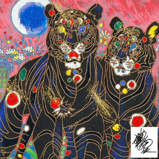 Tiger Couple 1998 Limited Edition Print - Tie-Feng Jiang