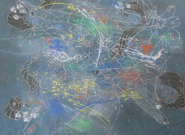 Untitled Painting 1985 31x31 Original Painting - Tie-Feng Jiang