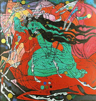 Emerald Lady 1985 Limited Edition Print - Tie-Feng Jiang