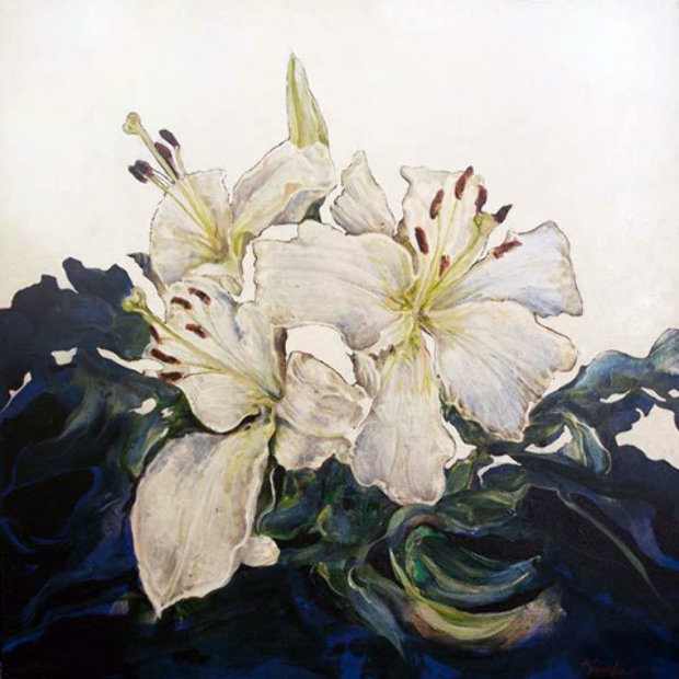 Untitled Floral Painting PTG-2-22-14 2014