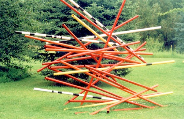 Pick-Up Sticks Unique Steel Sculpture 1996  196x108x96 In