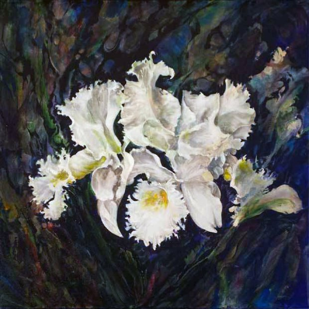 Untitled Orchids 2015 24x24
