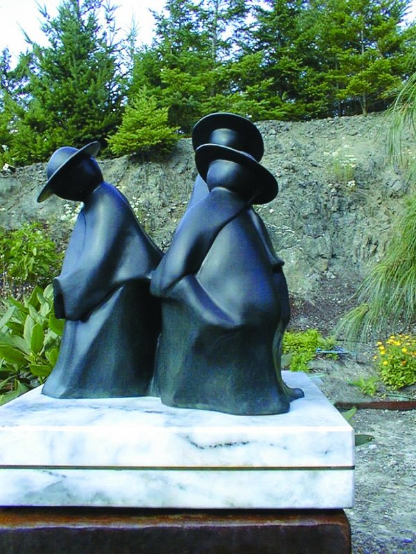 Tres Padres II Bronze Sculpture 1992 13 in