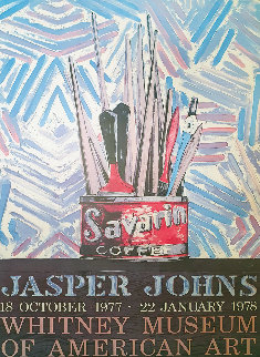 Savarin Coffee Poster 1977 Limited Edition Print - Jasper Johns