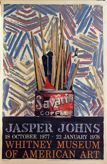 Savarin, Jasper Johns Exhibit at the Whitney Museum Poster 1977