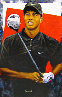 Grand Master - Tiger Woods 2006 72x48  Original Painting - Michael Joseph