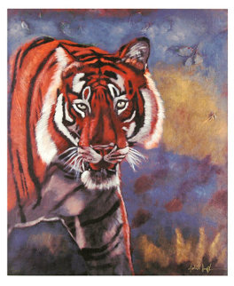 Tiger in the Woods 2008 Limited Edition Print - Michael Joseph
