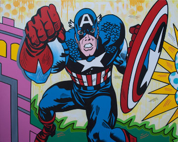 Captain America 2019 48x60 Original Painting -  Jozza