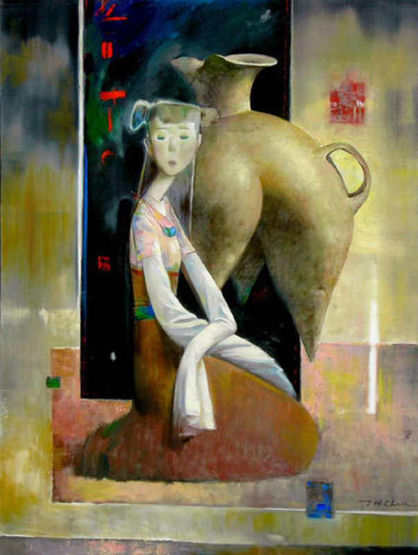 Girl with Terra Cotta Vessel 48x36
