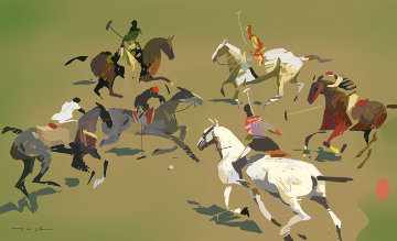Polo Match 2012 Limited Edition Print - Ju Hong Chen