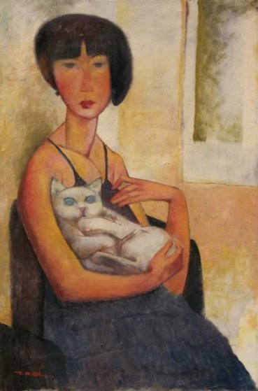 Girl With a Cat 2012 36x24