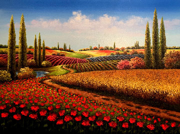 Open Land 2018 39x51 Original Painting - Mario Jung
