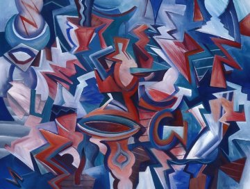 Transformation 1989 27x35 Original Painting - Peter Juvonen
