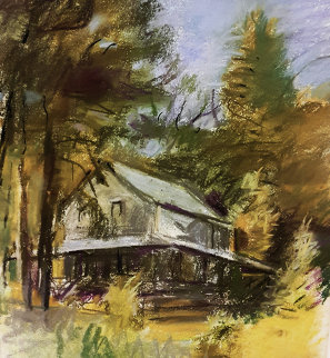 Closed Cabin in Martin\'s Point Pastel 1994 Works on Paper (not prints) - Wolf Kahn