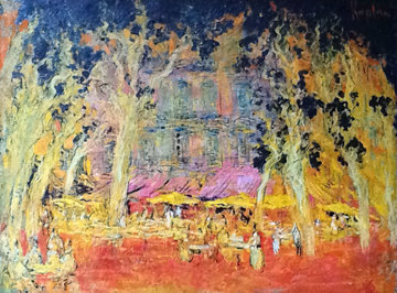 Saint-Tropez En Septembre, France 1999 42x53 Original Painting - Mark Kaplan