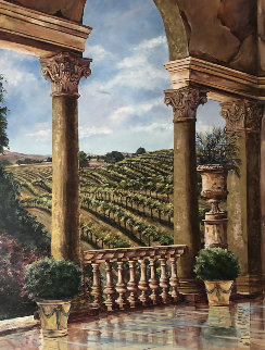 Vineyard Rhapsody 68x52 Original Painting - Karen Stene