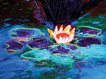 Monet's Water Lillies #1 36x48 Original Painting - Peter Karis