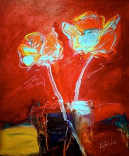 Deco Roses 2012 24x20 Original Painting - Peter Karis