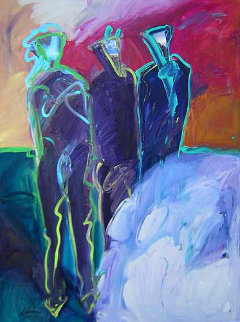 Anasazi #1 48x36 Original Painting - Peter Karis