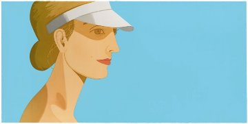 White Visor 2003 Limited Edition Print - Alex Katz