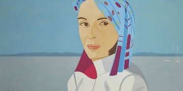 Ada in Blue Hat 2004 Limited Edition Print - Alex Katz