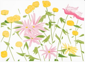 Spring Flowers 2017 Limited Edition Print - Alex Katz