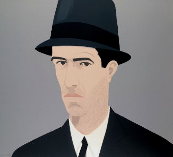 Alex Katz Passing Self Portrait:  Alex and Ada Suite 1990 Limited Edition Print - Alex Katz