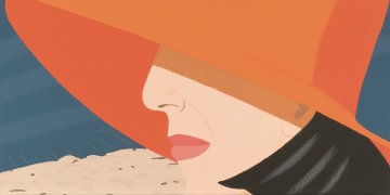 Alex And Ada Suite: Orange Hat 1990 Limited Edition Print - Alex Katz