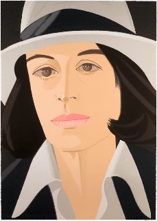 Alex And Ada Suite: White Hat  1990 Limited Edition Print - Alex Katz