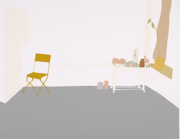 Grey Interior AP 1968 Limited Edition Print - Alex Katz