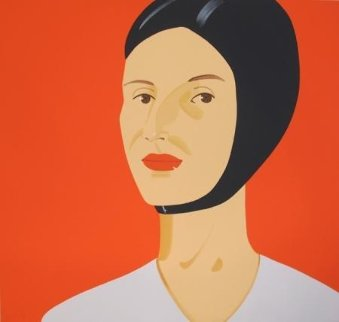 Ada in Bathing Cap  2012 46x48 Limited Edition Print - Alex Katz