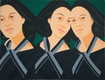 Grey Ribbon 1990 Limited Edition Print - Alex Katz