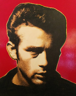 James Dean - Red - Embellished Limited Edition Print - Steve Kaufman