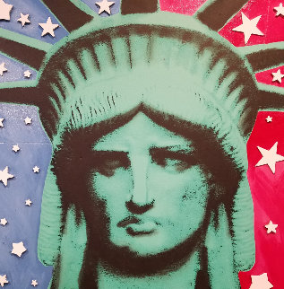 Statute of Liberty Embellished  Limited Edition Print - Steve Kaufman