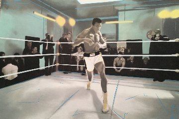 Muhammad Ali Collection Unique 32x48 Original Painting - Steve Kaufman
