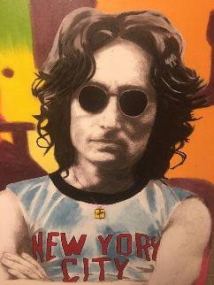 John Lennon 2001 53x40 Original Painting by Steve Kaufman