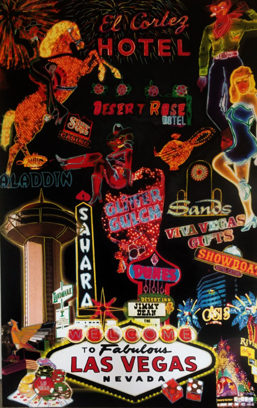 Las Vegas Neon Unique  2005 62x40